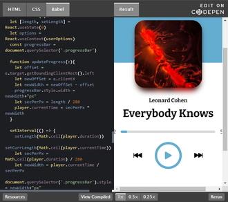 Music Player using React.js