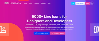 Lineicons 3.0 | 5000+ Line Icons for Designers and Developers