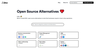 Open-source alternatives to popular B2B tools (btw.so)