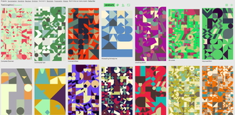 A pattern generator with 1300 shapes and 300 dpi