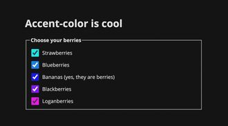 Simplifying Form Styles With accent-color